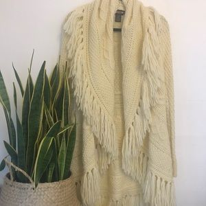Ralph Lauren Sweaters - Ralph Lauren Rugby Fringed Cable knit Sweater